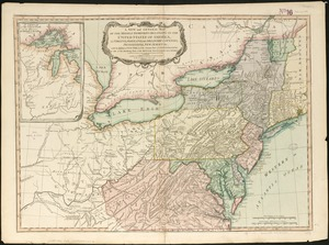New and general map of the middle dominions belonging to the United States of America, viz. Virginia, Maryland, the Delaware-counties, Pennsylvania, New Jersey &c. with the addition of New York, & of the greatest part of New England &c as also of the bordering parts of the British possessions in Canada