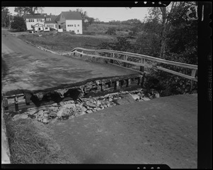 Hurricane damage to road