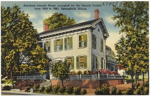 Abraham Lincoln home, occupied by the Lincoln family from 1844 to 1861, Springfield, Illinois