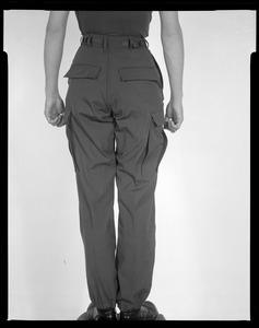 Battle dress, uniform, male + female, on female