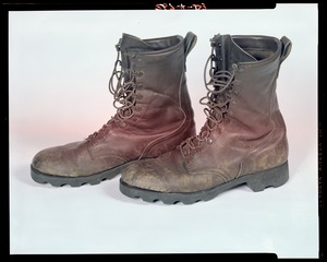 Footwear, wear + tear on boot