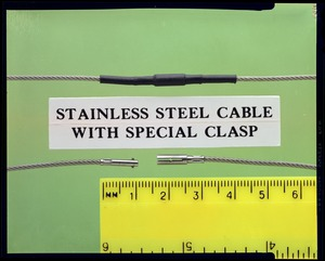 Stainless steel cable with special clasp