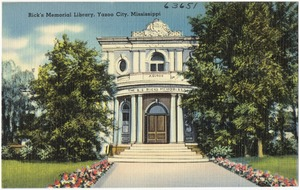 Rick's Memorial Library, Yazoo City, Mississippi